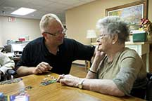 West Ridge Richard Curphey with Elder Resident
